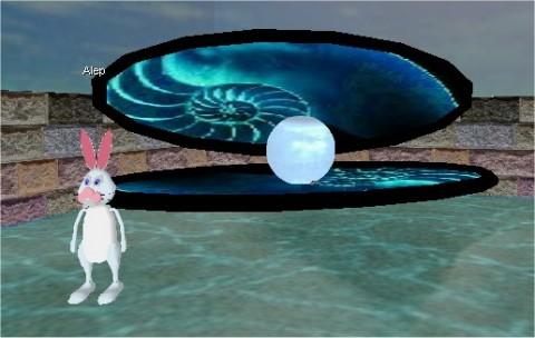 Alep vicino all'ostrica gigante