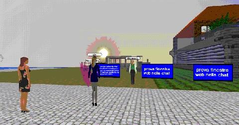 Una schermata della chat