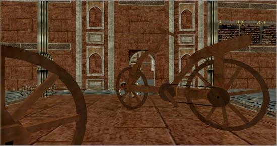 La bicicletta costruita da Attila sul modello di Leonardo
