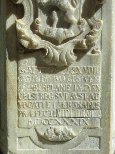 epigrafe di San Giovanni Nepomuceno.