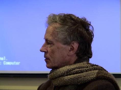 Derrick De Kerckhove agli incontri di Bolzano - dicembre 2005 - foto di Enrico Hell
