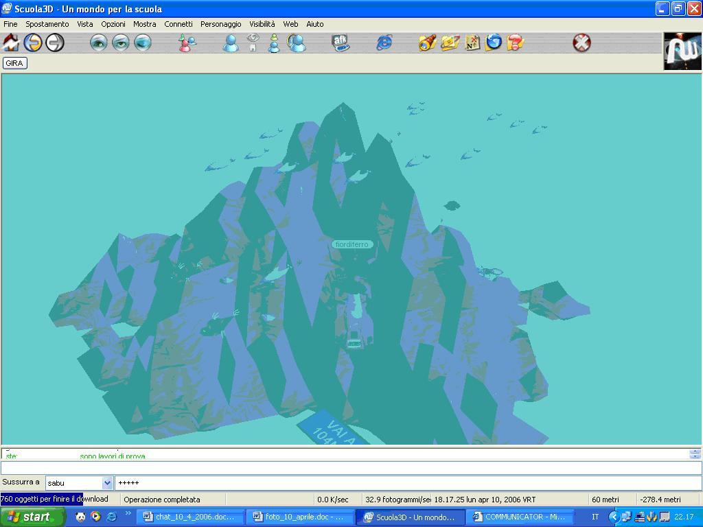 mondo subacqueo nella scuola3D