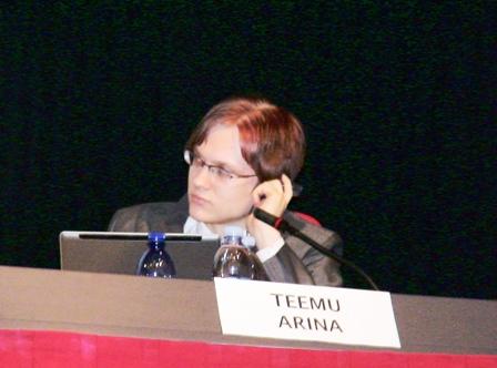Teemu Arina alla Bolzano Conversation 2007 Foto: Enrico Hell