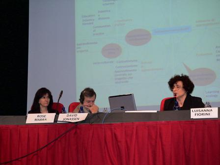 Rose Marra, David Jonassen, Luisanna Fiorini a Bolzano Conversation 2007
