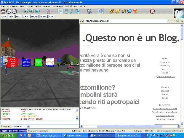 il blogg di Tommaso visualizzato da scuola3d