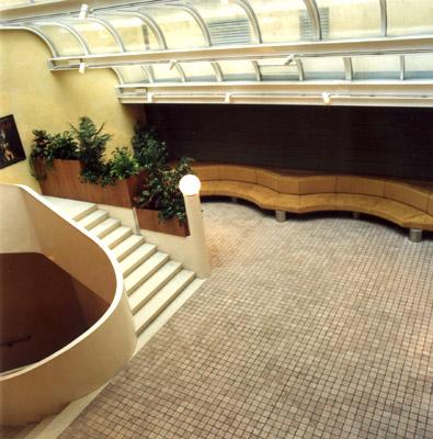 un interno del Centro Trevi di Bolzano, che ospita la mostra di Leonardo