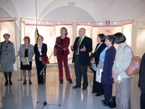 Inaugurazione della mostra di leonardo a bolzano. Il presidente della provincia parla della dimensione europea