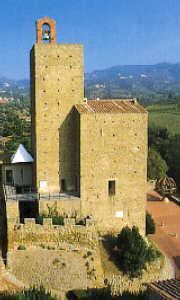 Il castello Giudi di Vinci, sede del museo Leonardiano di Vinci